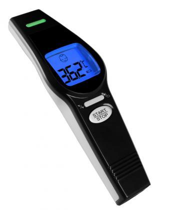 Thermomètre sans contact, T°corporelle ou d'objet - Indicateur couleur - Infrarouge