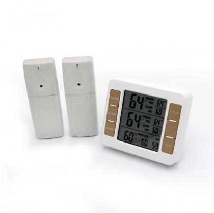 Base de contrôle températures, 3 prises de température - Alarme programmable - Lecture facile