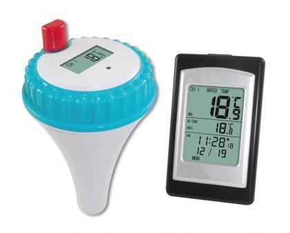 Thermomètre de piscine sans fil, Température de l'eau - Ultra-résistant - Ecran déporté
