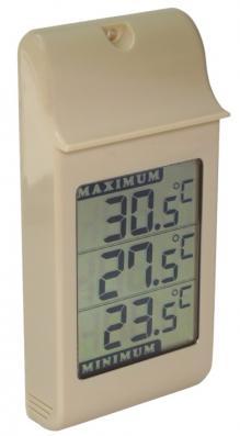 Thermomètre mini/maxi, Spécial grands chiffres - IPX4 - Mémoire des mini et maxi