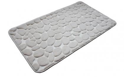 Tapis confort motif GALETS, Mousse à mémoire de forme - Antidérapant - 85 x 45 cm