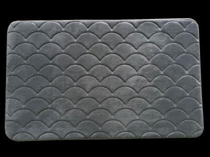 Tapis confort motif VAGUES, Mousse à mémoire de forme - Antidérapant - 80 x 45 cm