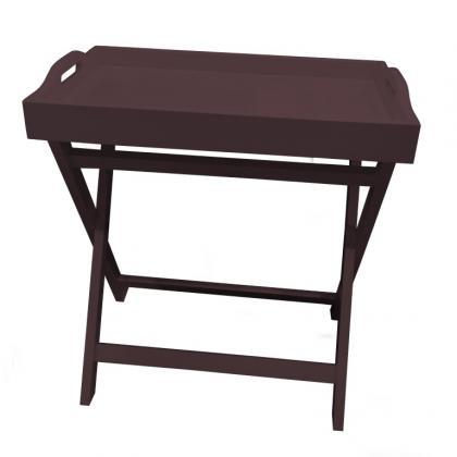 Table Plateau Amovible, Plateau grandes dimensions avec poignées - Support pliable