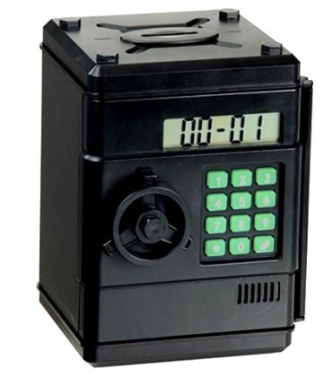 Tirelire digitale Strong Box, Combinaison 6 chiffres - Comptage automatique - Horloge