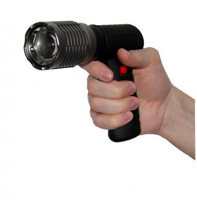 Torche Shotgun Ergonomique, LED Cree 300 lumens - Zoom - Poignée ergonomique