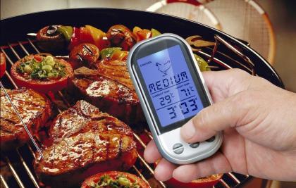 Thermo-sonde de cuisson, Sans fil - Four et barbecue - Minuteur et alarme