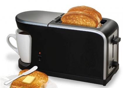 Breakfast 2 en 1, Cafetière - Grille pain - 900W