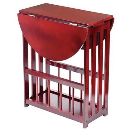 Table d'appoint pliante, Porte revues - Compacte - Modulable