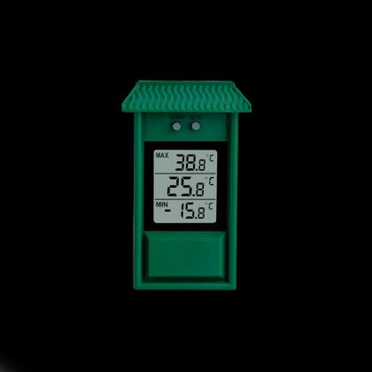 Thermomètre cabane mini/maxi, Lecture immédiate - Mémoire des mini et maxi - IPX2