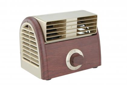 Ventilateur turbo bois & gold, Silencieux - 3 vitesses - 30 watts