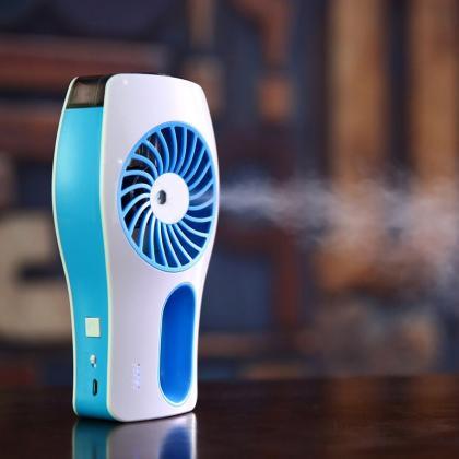 Ventilateur brumisateur à main, Rechargeable lithium - Jusqu'à 7 heures d'autonomie